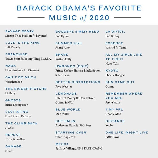 Ông Obama tiết lộ phim, ca khúc và sách yêu thích nhất năm 2020 - ảnh 3