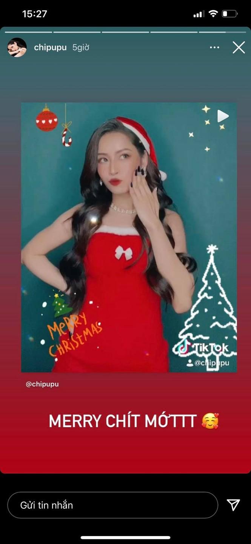 Chi Pu hóa 'bà già Noel' gợi cảm, nhảy sexy đón Giáng sinh - ảnh 1