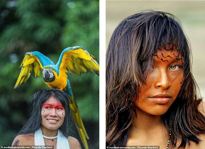 Mãn nhãn bộ ảnh về cuộc sống nguyên sơ của thổ dân Brazil trong rừng sâu - ảnh 7
