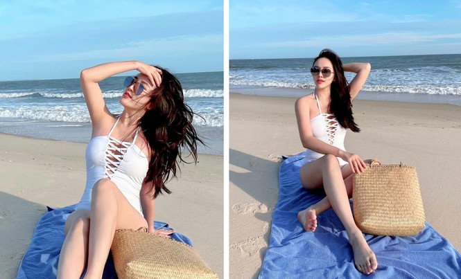 Sao Việt đi biển: Hoàng Yến Chibi bán nude táo bạo, Bảo Anh diện mốt 'tụt quần' - ảnh 5