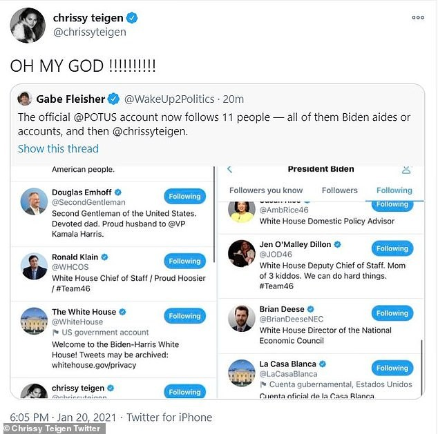 Ngôi sao duy nhất được Tổng thống Mỹ Joe Biden theo dõi trên Twitter là ai? - ảnh 2