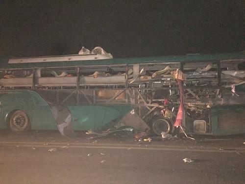 Vụ nổ xe khách tại Bắc Ninh: Nghi ngờ do thuốc nổ - ảnh 1