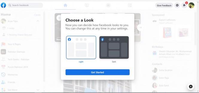 Facebook mời dùng thử giao diện web mới, có chế độ ban đêm huyền bí - ảnh 2