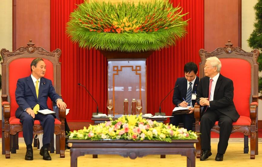 Tổng Bí thư, Chủ tịch nước Nguyễn Phú Trọng tiếp Thủ tướng Nhật Bản - ảnh 4