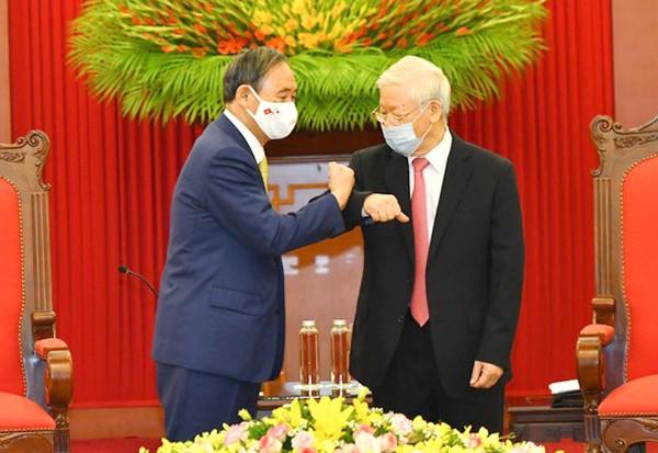 Tổng Bí thư, Chủ tịch nước Nguyễn Phú Trọng tiếp Thủ tướng Nhật Bản - ảnh 1
