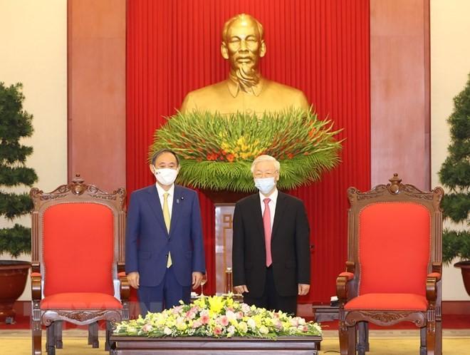 Tổng Bí thư, Chủ tịch nước Nguyễn Phú Trọng tiếp Thủ tướng Nhật Bản - ảnh 2