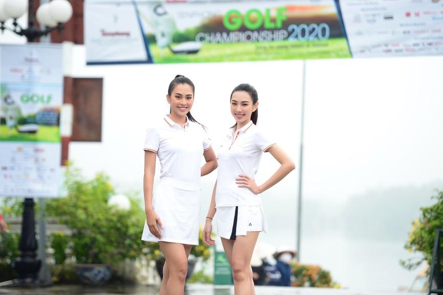Tiểu Vy và dàn người đẹp Hoa hậu Việt Nam đẹp rạng rỡ trên sân golf  - ảnh 7