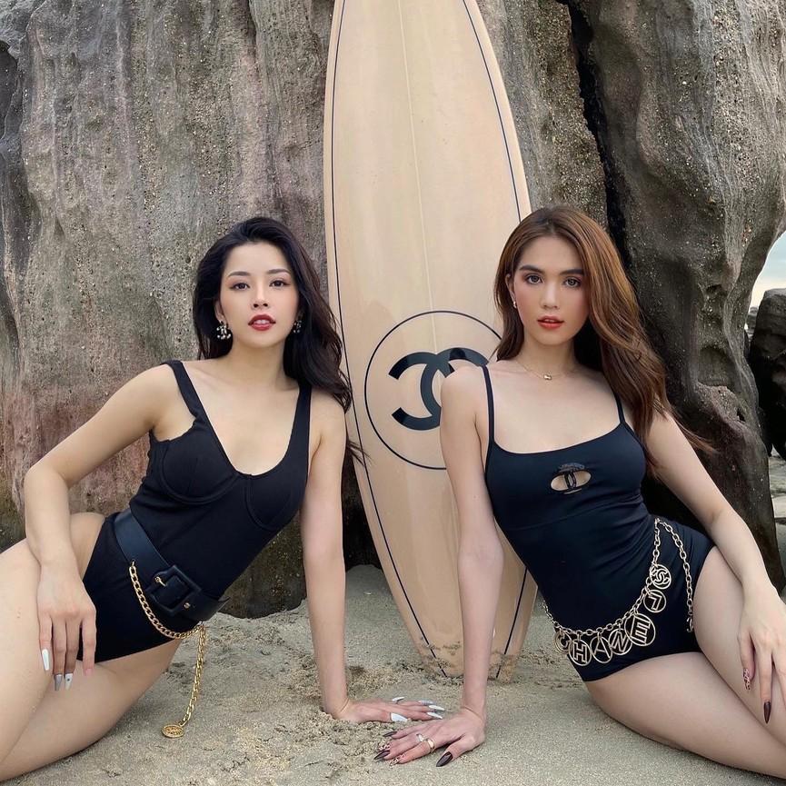 Chi Pu - Ngọc Trinh cùng phô diễn body nóng 'bỏng mắt' với áo tắm - ảnh 6