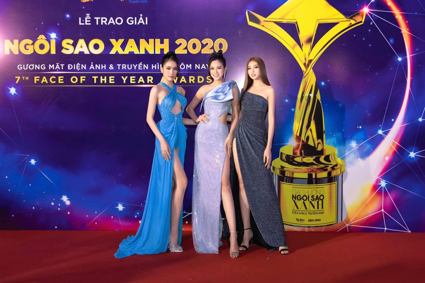 Top 3 Hoa hậu Việt Nam 2020 diện váy cắt xẻ khoe triệt để đường cong gợi cảm - ảnh 1