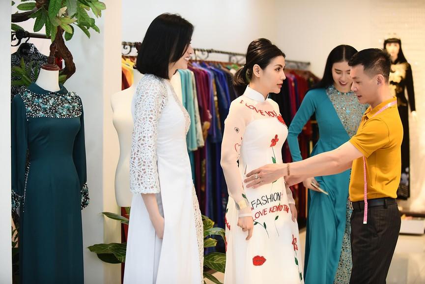 Bạn gái Công Lý đi thử áo dài giữa tin đồn sắp kết hôn - ảnh 10
