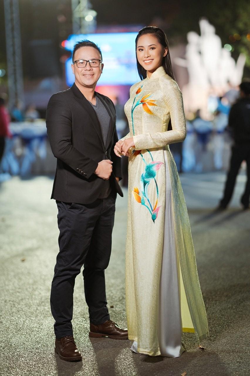 'Kình ngư' - Người đẹp Thể thao Phù Bảo Nghi duyên dáng và nữ tính với áo dài  - ảnh 8