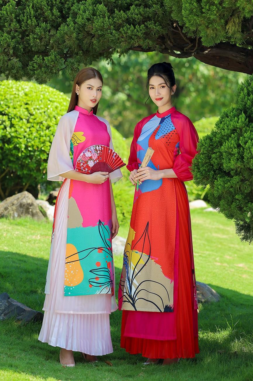 Á Hậu Phương Anh - Ngọc Thảo khoe trọn thần thái xinh đẹp, yêu kiều với áo dài Tết  - ảnh 11