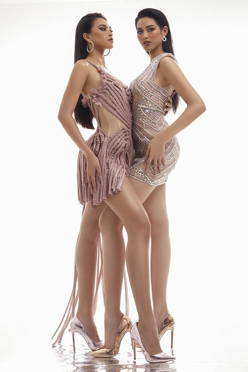 Lần đầu đọ sắc cùng đàn chị Tiểu Vy, Hoa hậu Đỗ Thị Hà khoe body cực nóng bỏng  - ảnh 2