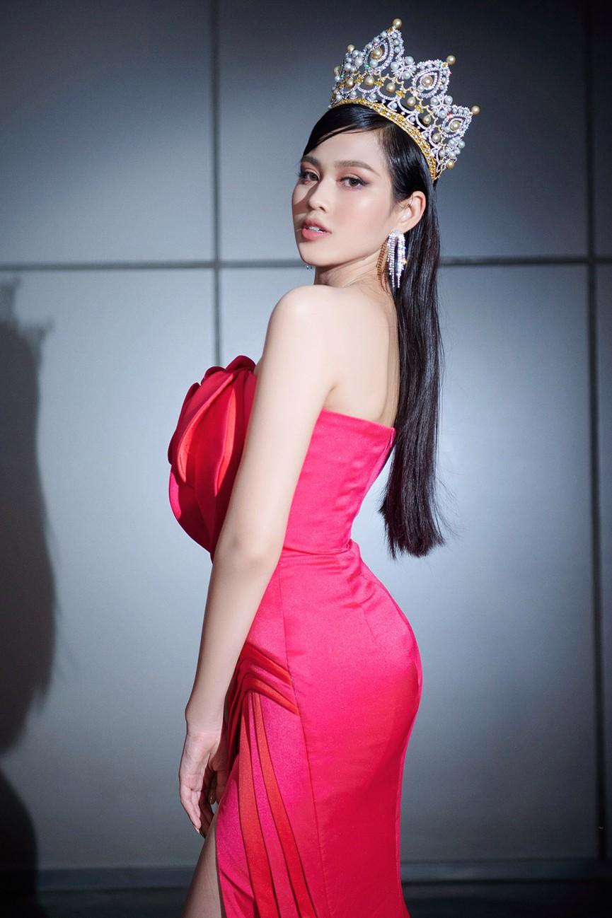 Đỗ Thị Hà, Đỗ Mỹ Linh và dàn hậu mặc váy xẻ khoe chân dài 'cực phẩm' trên thảm đỏ - ảnh 2