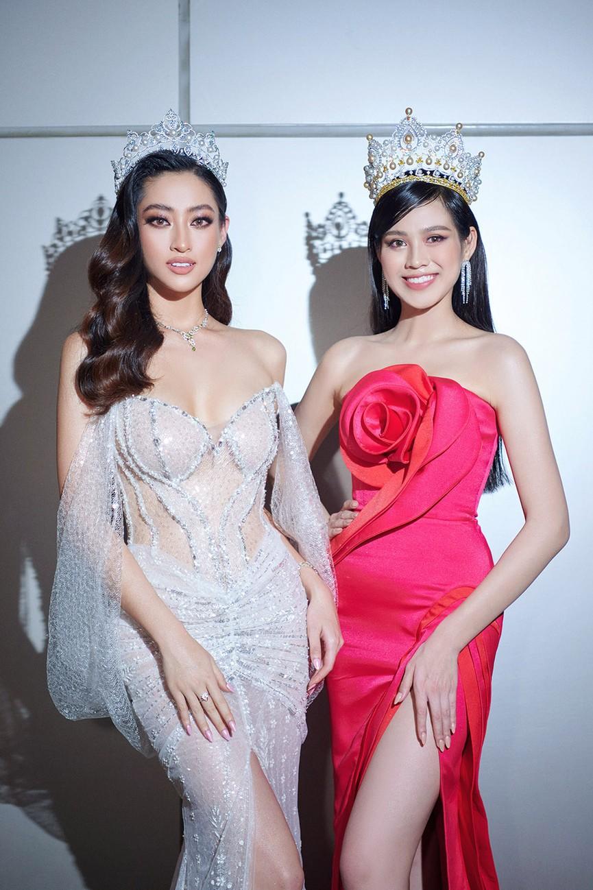 Đỗ Thị Hà, Đỗ Mỹ Linh và dàn hậu mặc váy xẻ khoe chân dài 'cực phẩm' trên thảm đỏ - ảnh 17