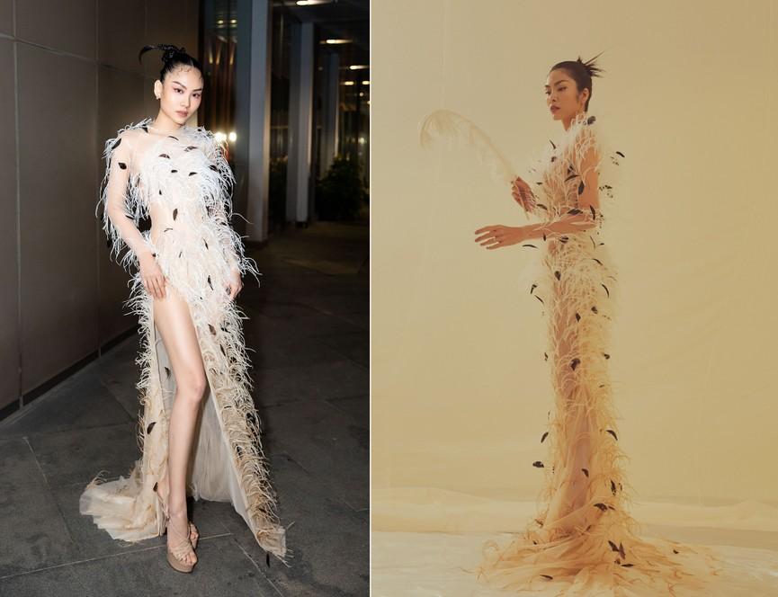 Đụng váy lông vũ với Hà Tăng, Người đẹp Nhân ái Mai Phương đẹp tựa 'thiên nga trắng'  - ảnh 3