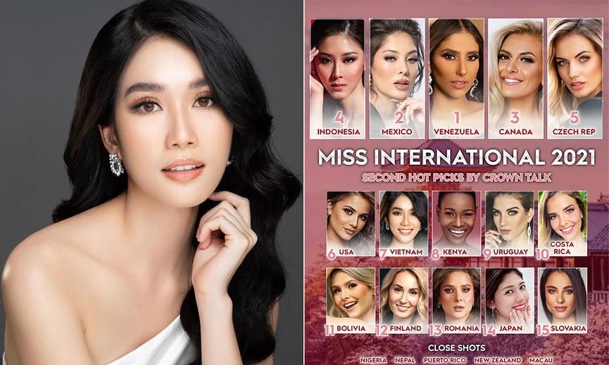 Á hậu Phương Anh được dự đoán lọt top 10 tại Hoa hậu Quốc tế 2021 - ảnh 1