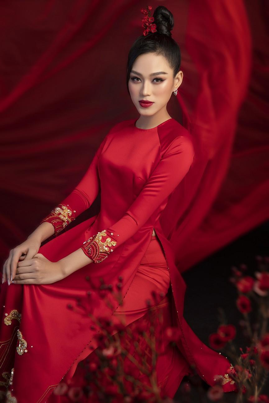 Hoa hậu Đỗ Thị Hà, Á hậu Phương Anh-Ngọc Thảo hóa 'mỹ nhân cổ trang' trong bộ ảnh Tết - ảnh 3