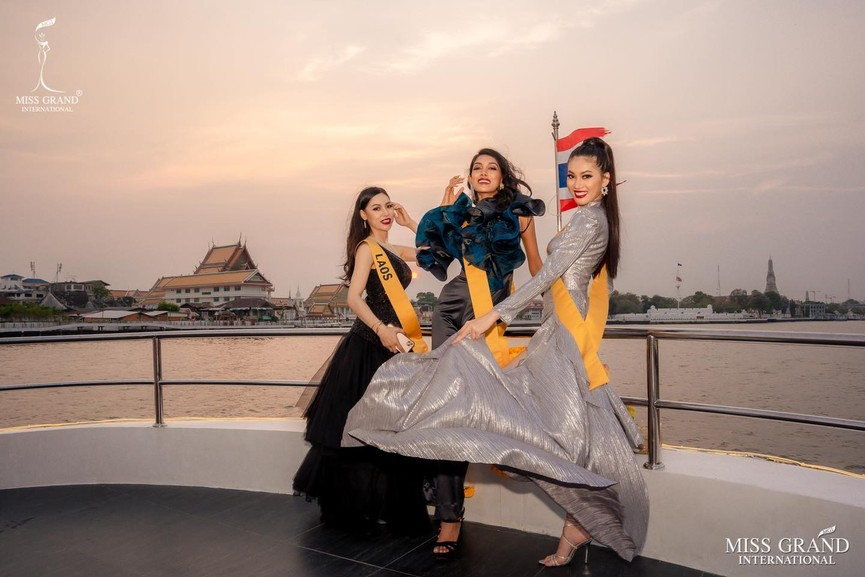 Ngọc Thảo khoe chân dài 1m11, quẩy cực 'sung' bên dàn thí sinh Miss Grand 2021 - ảnh 6