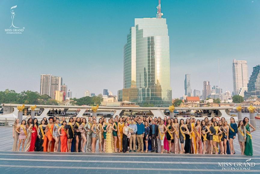 Ngọc Thảo khoe chân dài 1m11, quẩy cực 'sung' bên dàn thí sinh Miss Grand 2021 - ảnh 2