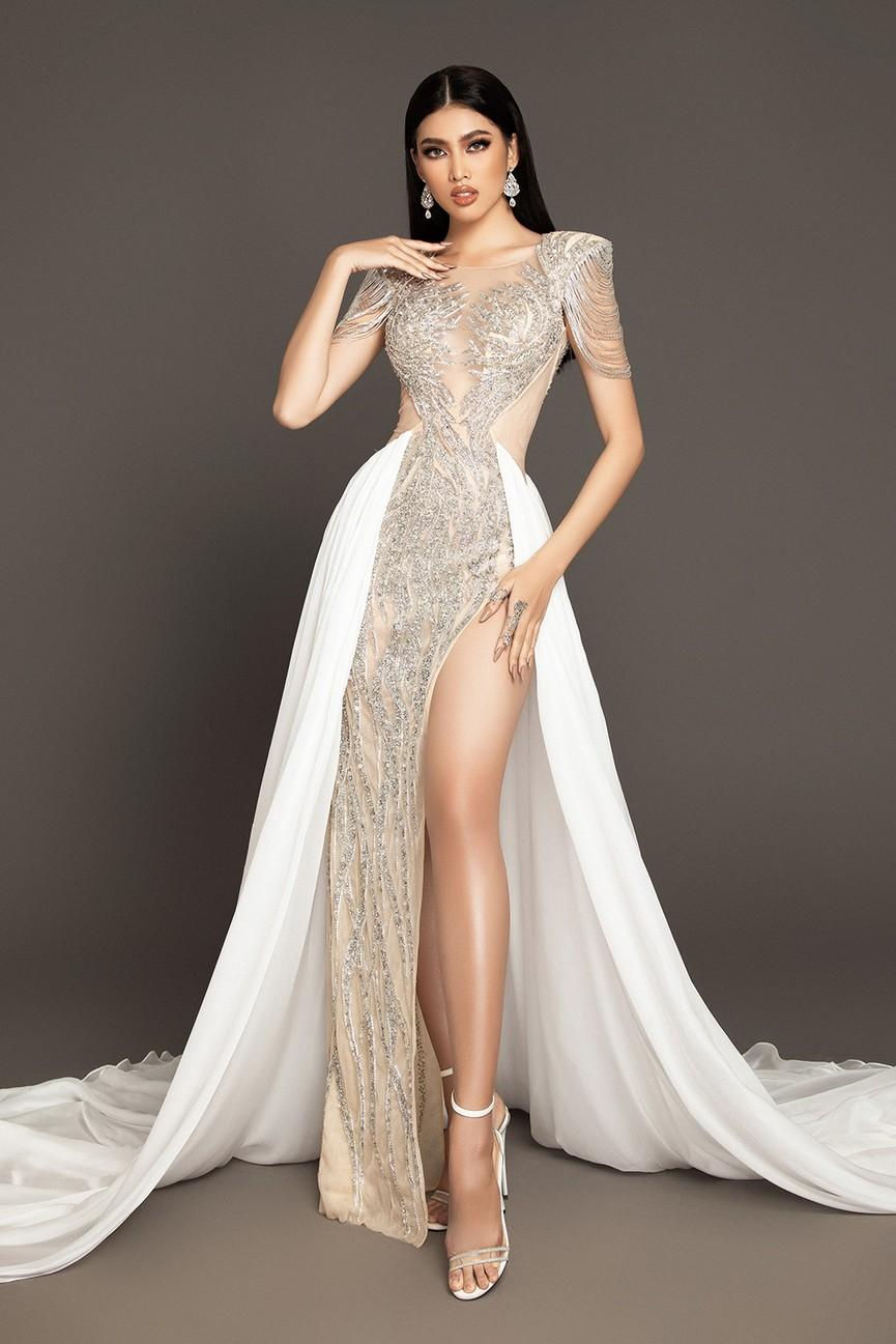 Lộ diện váy dạ hội mang thông điệp hòa bình của Ngọc Thảo tại bán kết Miss Grand - ảnh 2