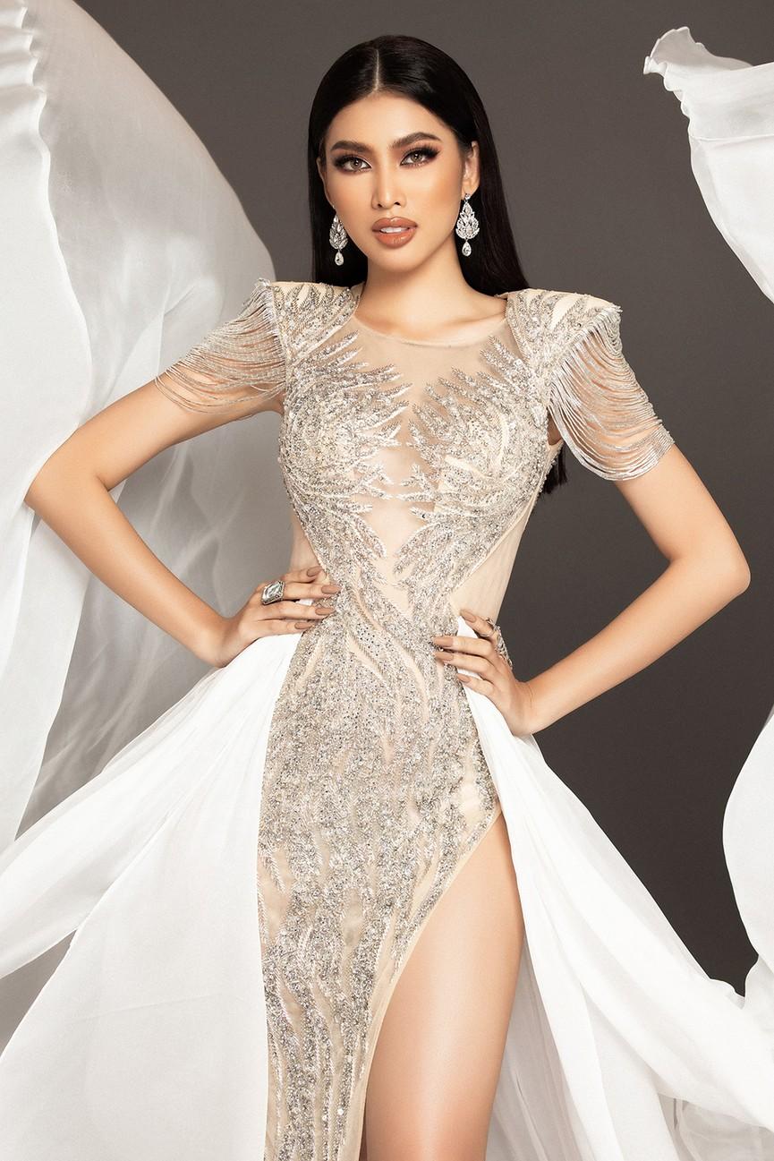 Lộ diện váy dạ hội mang thông điệp hòa bình của Ngọc Thảo tại bán kết Miss Grand - ảnh 4