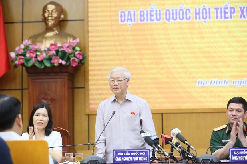 Tổng Bí thư, Chủ tịch nước tiếp xúc cử tri trước kỳ họp thứ 8, Quốc hội khóa XIV - ảnh 4