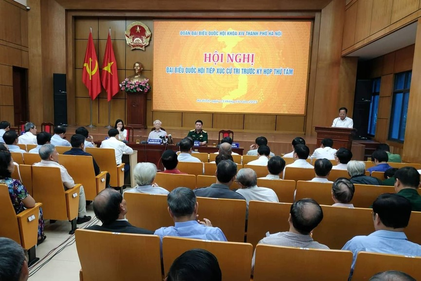 Tổng Bí thư, Chủ tịch nước tiếp xúc cử tri trước kỳ họp thứ 8, Quốc hội khóa XIV - ảnh 8