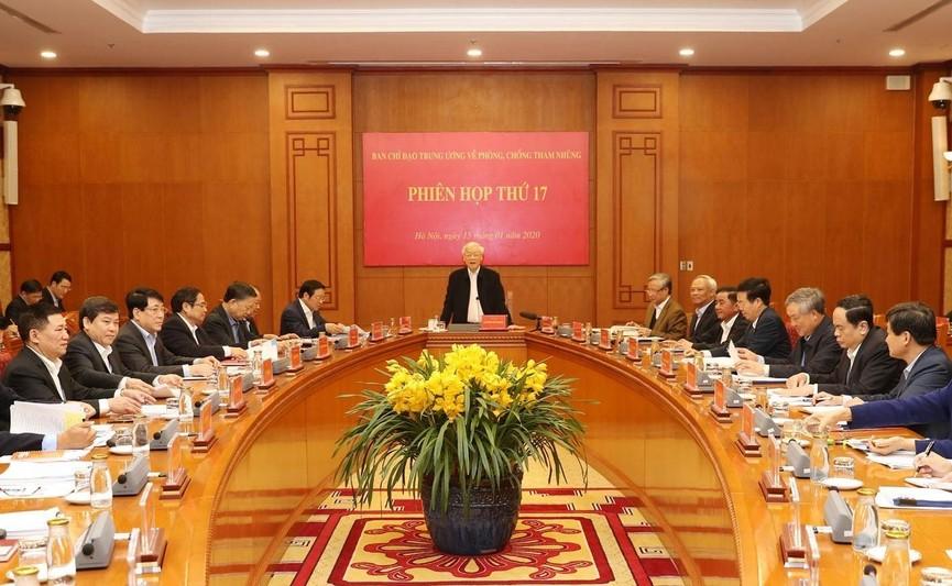 Tổng Bí thư, Chủ tịch nước chủ trì phiên họp về phòng chống tham nhũng - ảnh 5