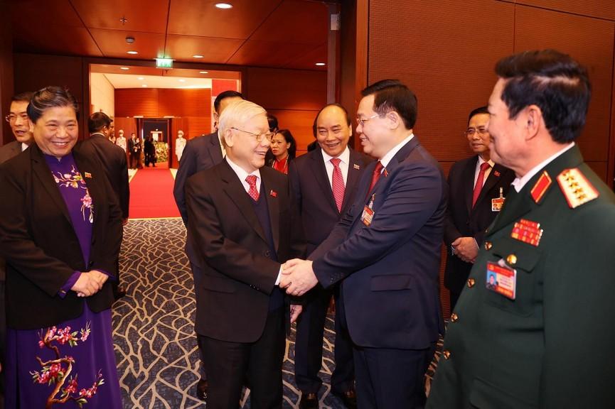 Tổng Bí thư, Chủ tịch nước cùng các đại biểu trong phiên họp trù bị Đại hội XIII của Đảng - ảnh 2