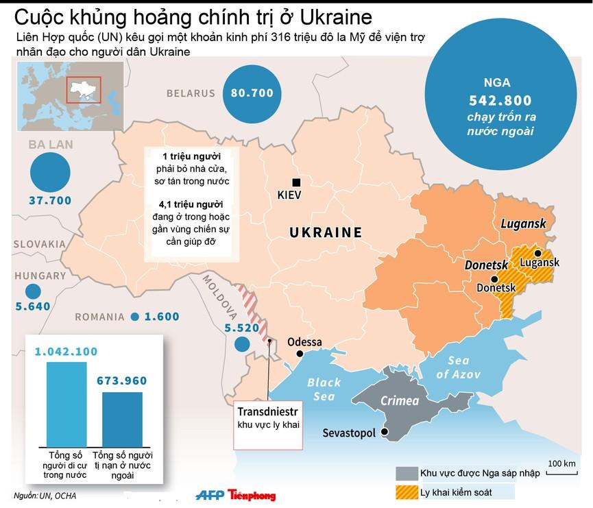 [ĐỒ HOẠ] LHQ kêu gọi 'tiền tấn' viện trợ cho Ukraine - ảnh 1
