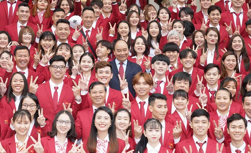 Thủ tướng gặp mặt, vinh danh VĐV, HLV đạt thành tích cao tại SEA Games 30 - ảnh 6