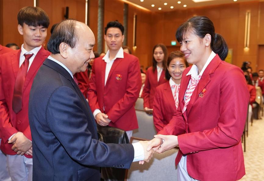 Thủ tướng gặp mặt, vinh danh VĐV, HLV đạt thành tích cao tại SEA Games 30 - ảnh 1