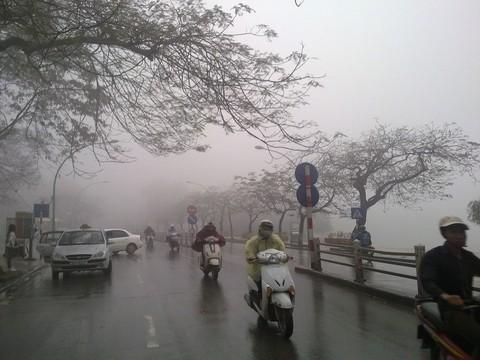 Miền Bắc không khí lạnh suy yếu, xuất hiện sương mù