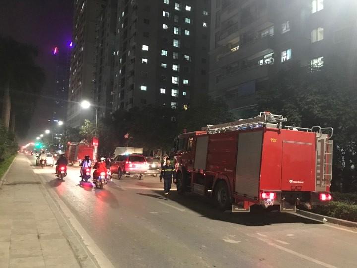 Tòa chung cư nơi xảy ra vụ cháy.