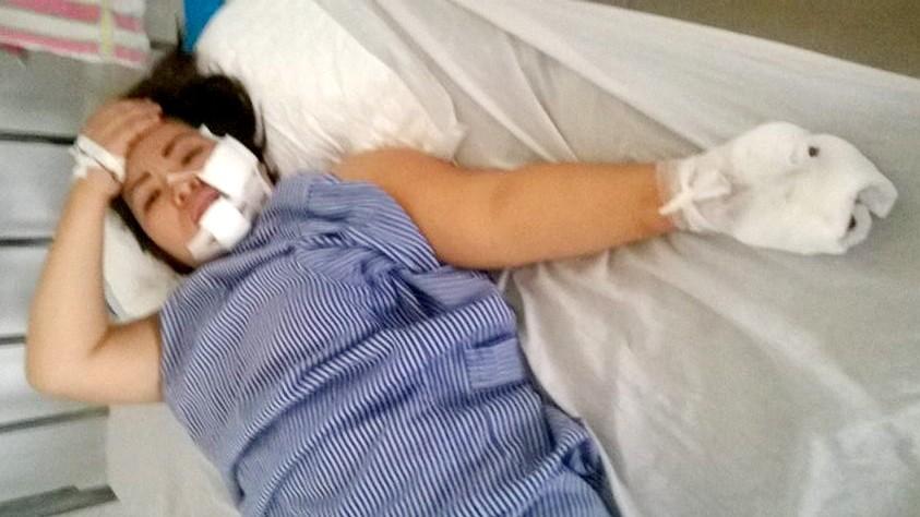 Chị L. tại Bệnh viện đa khoa Quảng Ninh