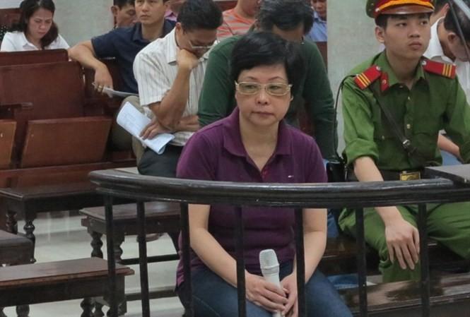 Châu Thị Thu Nga tại phiên tòa sơ thẩm.