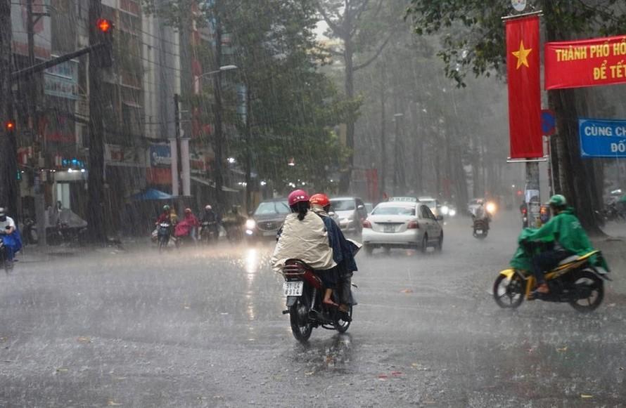 Dự báo các tỉnh Tây Nguyên, Nam Trung Bộ và Nam Bộ có mưa lớn từ nay đến đầu tuần sau.