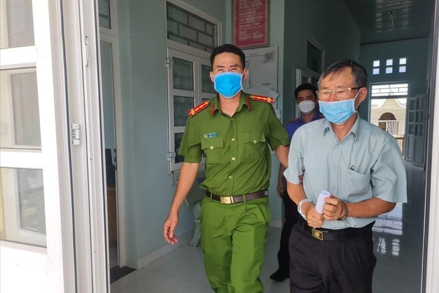 Bị can Phí Văn Thành bị bắt.