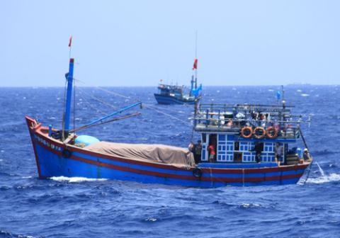 Tàu cá của ngư dân Việt Nam đánh bắt hải sản trên Biển Đông. Ảnh: Báo Đất Việt