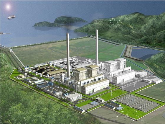 Phối cảnh dự án nhiệt điện Quảng Trạch I.