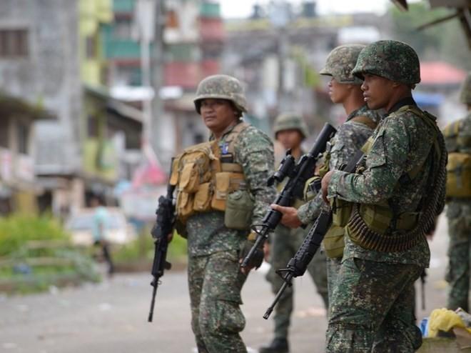 Lực lượng vũ trang Philippines ở thành phố Marawi. (Nguồn: AFP/Getty Images)