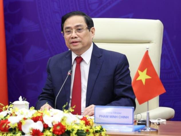 Thủ tướng Phạm Minh Chính phát biểu tại Hội nghị. (Ảnh: Mofa)