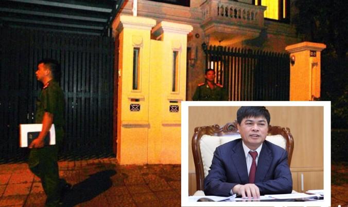 Cơ quan CSĐT - Bộ Công an khám xét nhà ông Nguyễn Xuân Sơn (ảnh nhỏ) tại khu đô thị Ciputra, quận Tây Hồ, Hà Nội.