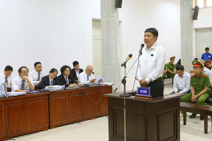 Ông Đinh La Thăng tại phiên tòa hôm qua, 20/3. Ảnh: Doãn Tấn - TTXVN.