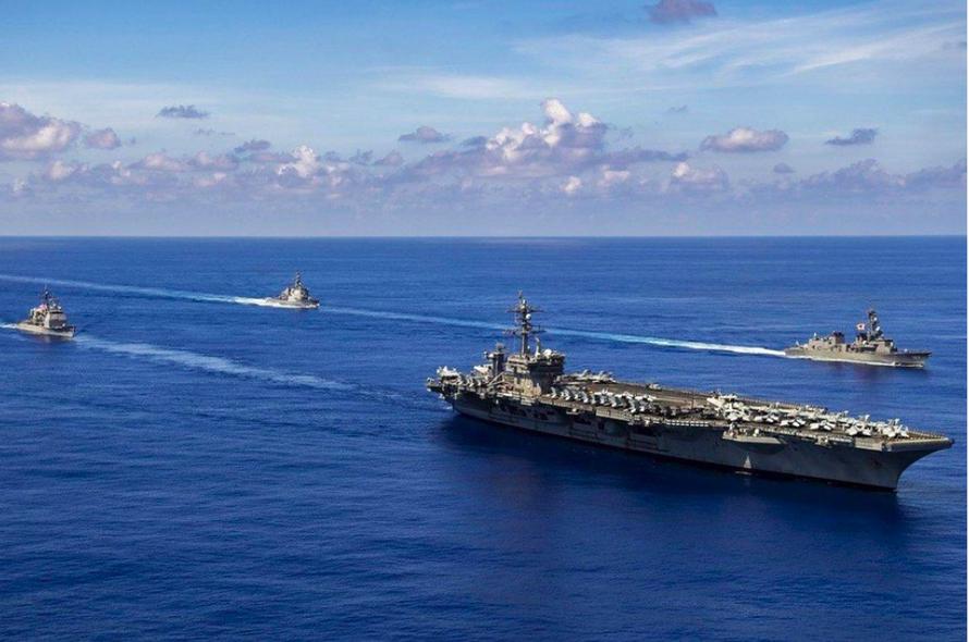 Sau Nga - Trung, Mỹ - Nhật tập trận chung trên biển