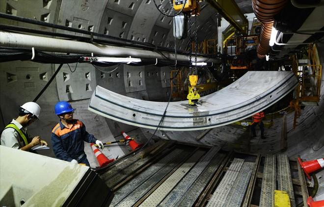 Thi công đường hầm tuyến metro số 1 (gói thầu CP 1b)