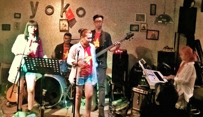 Ban nhạc trẻ của Philippines. ảnh Trần Nguyên Anh