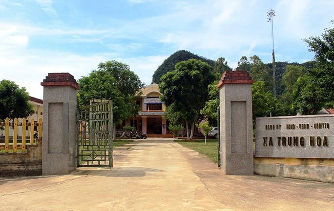 Trụ sở xã Trung Hóa