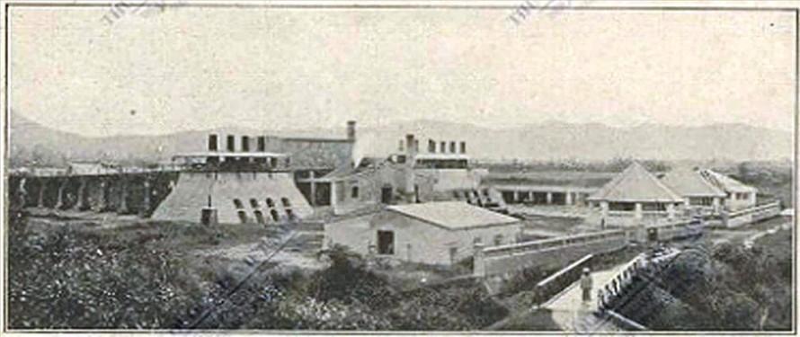 Nhà máy vôi nước Long Thọ dưới thời Pháp thuộc (ảnh tư liệu chụp năm 1922)